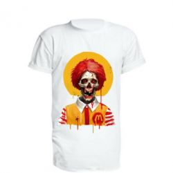 Подовжена футболка Clown McDonald's skeleton
