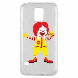 Чохол для Samsung S5 Clown McDonald's