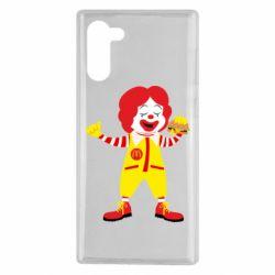 Чохол для Samsung Note 10 Clown McDonald's