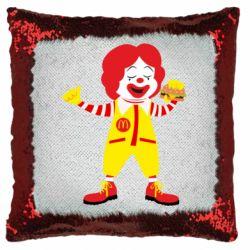Подушка-хамелеон Clown McDonald's