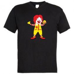 Чоловіча футболка з V-подібним вирізом Clown McDonald's