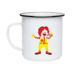 Кружка емальована Clown McDonald's