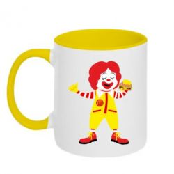 Кружка двоколірна 320ml Clown McDonald's