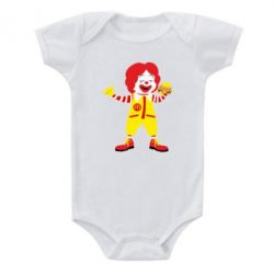 Дитячий бодік Clown McDonald's