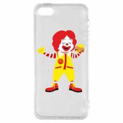 Чохол для iphone 5/5S/SE Clown McDonald's