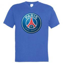 Мужская футболка  с V-образным вырезом Club psg