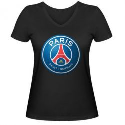 Женская футболка с V-образным вырезом Club psg