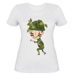 Женская футболка Cміливий солдат - FatLine