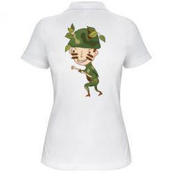 Женская футболка поло Cміливий солдат - FatLine