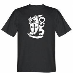 Мужская футболка Coat of arms of Finland Leo