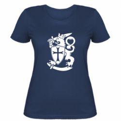 Женская футболка Coat of arms of Finland Leo
