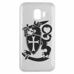 Чехол для Samsung J2 2018 Coat of arms of Finland Leo