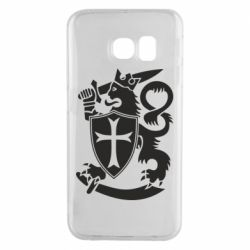 Чехол для Samsung S6 EDGE Coat of arms of Finland Leo