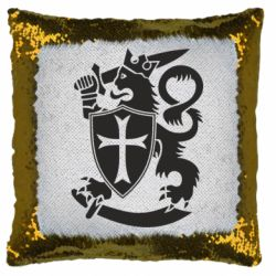 Подушка-хамелеон Coat of arms of Finland Leo