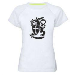 Женская спортивная футболка Coat of arms of Finland Leo