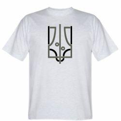 Чоловіча футболка Coat of arms of Ukraine and the percentage
