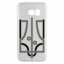 Чохол для Samsung S6 EDGE Coat of arms of Ukraine and the percentage