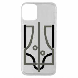 Чохол для iPhone 11 Coat of arms of Ukraine and the percentage