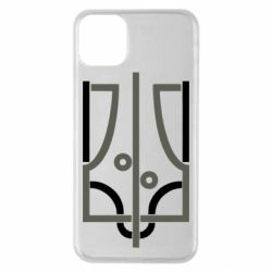 Чохол для iPhone 11 Pro Max Coat of arms of Ukraine and the percentage
