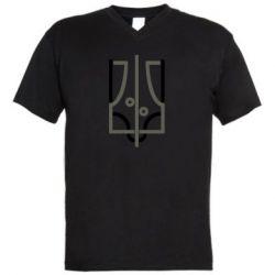 Чоловіча футболка з V-подібним вирізом Coat of arms of Ukraine and the percentage