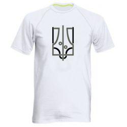 Чоловіча спортивна футболка Coat of arms of Ukraine and the percentage