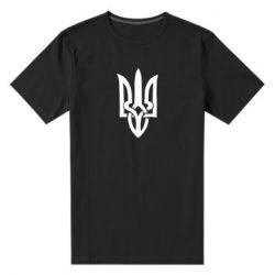 Мужская стрейчевая футболка Coat of arms of Ukraine torn inside