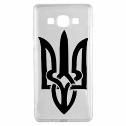 Чехол для Samsung A5 2015 Coat of arms of Ukraine torn inside