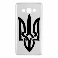 Чехол для Samsung A7 2015 Coat of arms of Ukraine torn inside