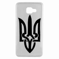 Чехол для Samsung A7 2016 Coat of arms of Ukraine torn inside