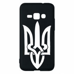 Чехол для Samsung J1 2016 Coat of arms of Ukraine torn inside