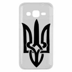 Чехол для Samsung J2 2015 Coat of arms of Ukraine torn inside