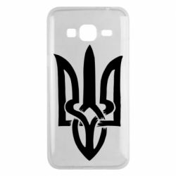 Чехол для Samsung J3 2016 Coat of arms of Ukraine torn inside