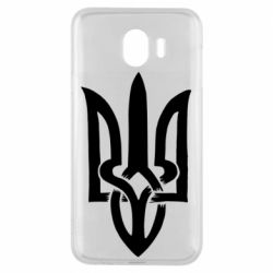 Чехол для Samsung J4 Coat of arms of Ukraine torn inside