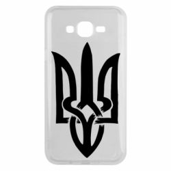 Чехол для Samsung J7 2015 Coat of arms of Ukraine torn inside