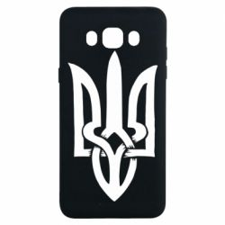 Чехол для Samsung J7 2016 Coat of arms of Ukraine torn inside