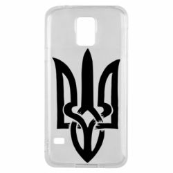 Чехол для Samsung S5 Coat of arms of Ukraine torn inside