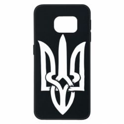 Чехол для Samsung S6 EDGE Coat of arms of Ukraine torn inside