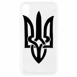 Чехол для iPhone XR Coat of arms of Ukraine torn inside