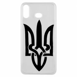 Чехол для Samsung A6s Coat of arms of Ukraine torn inside