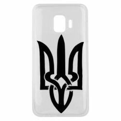Чехол для Samsung J2 Core Coat of arms of Ukraine torn inside