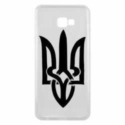 Чехол для Samsung J4 Plus 2018 Coat of arms of Ukraine torn inside