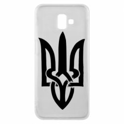 Чехол для Samsung J6 Plus 2018 Coat of arms of Ukraine torn inside
