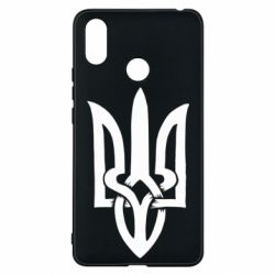 Чехол для Xiaomi Mi Max 3 Coat of arms of Ukraine torn inside