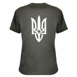 Камуфляжная футболка Coat of arms of Ukraine torn inside