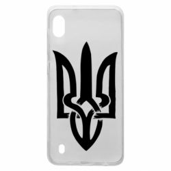 Чехол для Samsung A10 Coat of arms of Ukraine torn inside