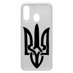 Чехол для Samsung A40 Coat of arms of Ukraine torn inside