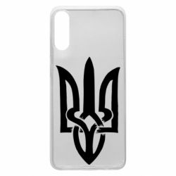 Чехол для Samsung A70 Coat of arms of Ukraine torn inside