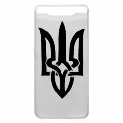 Чехол для Samsung A80 Coat of arms of Ukraine torn inside