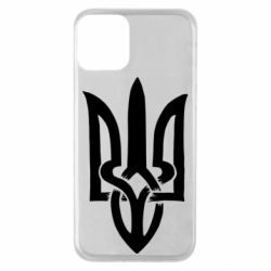 Чехол для iPhone 11 Coat of arms of Ukraine torn inside