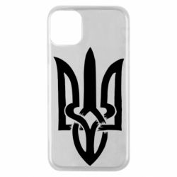 Чехол для iPhone 11 Pro Coat of arms of Ukraine torn inside